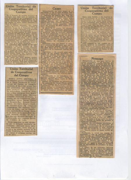 NOTICIAS DE LA PRENSA EN EL AÑO 1.953 Y  1.955 SOBRE CASPE
