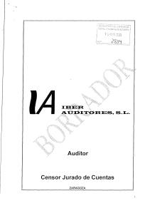 Borrador del informe contable (I)