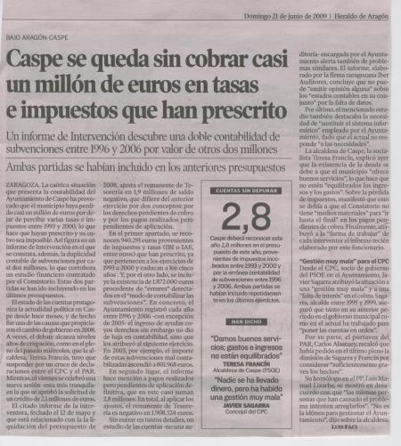 EL CASI MILLON DE EUROS PRESCRITO