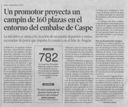 """""""Heraldo de Aragón -Bajo Aragón Caspe-19.10.2009"""